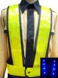 青色LEDベスト(紺メッシュ×黄テープ)