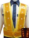 黄色LEDベスト(黄メッシュ×黄金テープ)