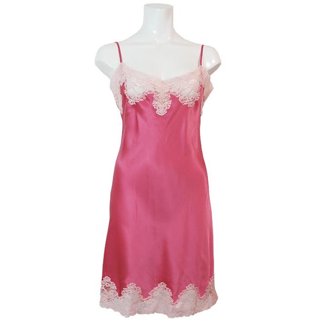 【Aubade】《Crepuscule Satine》VI40 シルクスリップ Pink Fizz