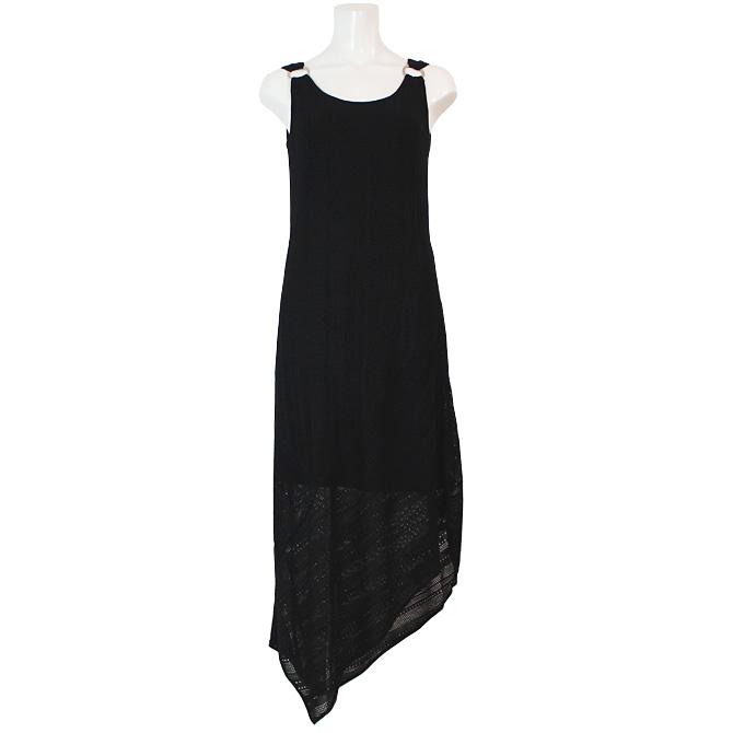 【LEO & UGO】【レオアンドユーゴ】BER847 ニットドレス ブラック