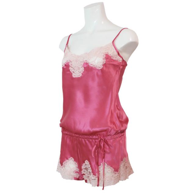 【Aubade】《Crepuscule Satine》VI87 シルクテディ Pink Fizz