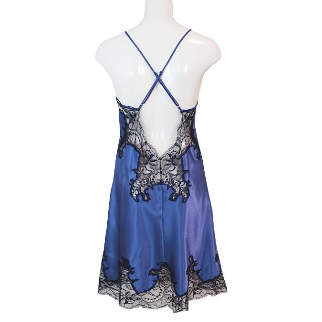 【COEMI】【コエミ】「Eternal Glam」 172239 バッククロス スリップ Steel Blue/Royal