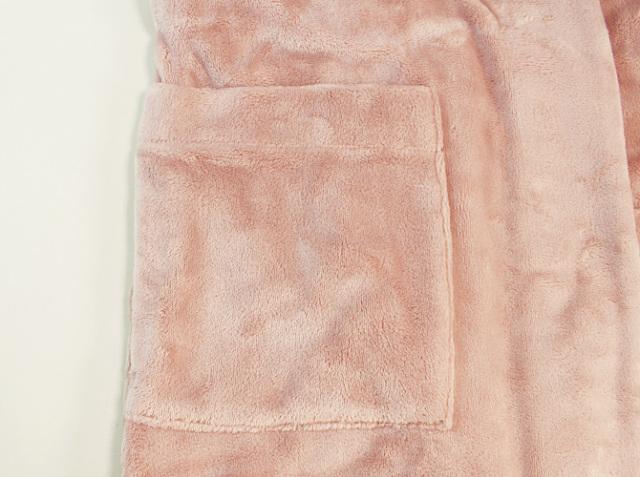 【COEMI】【コエミ】201W105 フリースロングガウン rose quartz