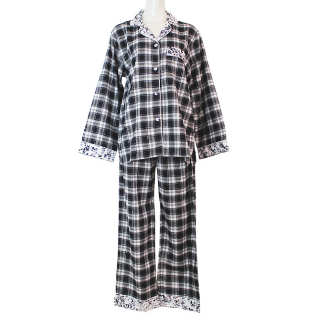 【Cottonreal】【コットンリアル】CRE16-1519コットンネル チェック柄パジャマ