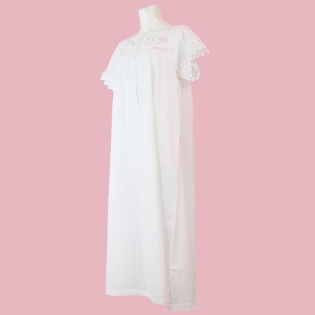【Cottonreal】【コットンリアル】GIGI 半袖コットンナイティ WHITE