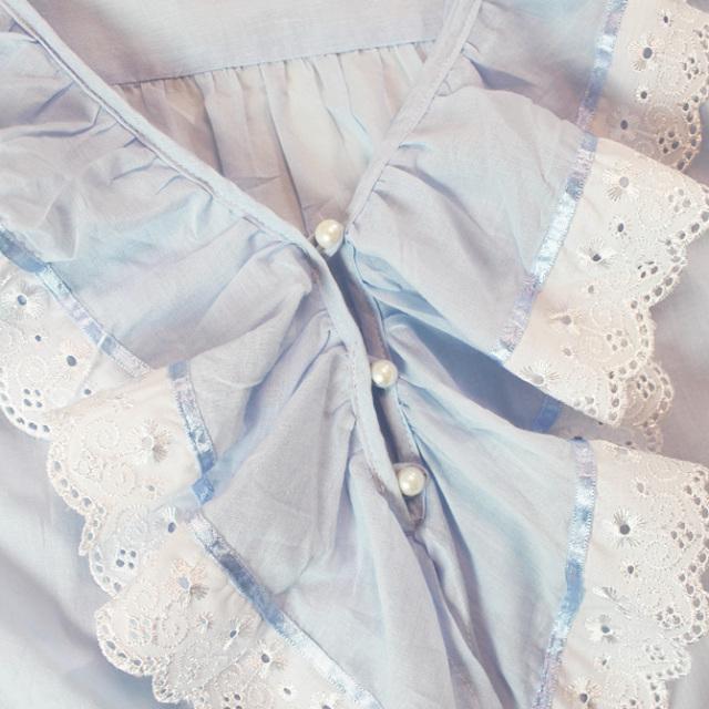 【Cottonreal】【コットンリアル】TOBY 七分袖コットンナイティ BLUE