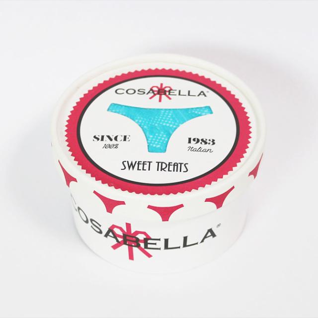 【COSABELLA】【コサベラ】TREAT0323 カップ入りレオパード柄レースタンガ