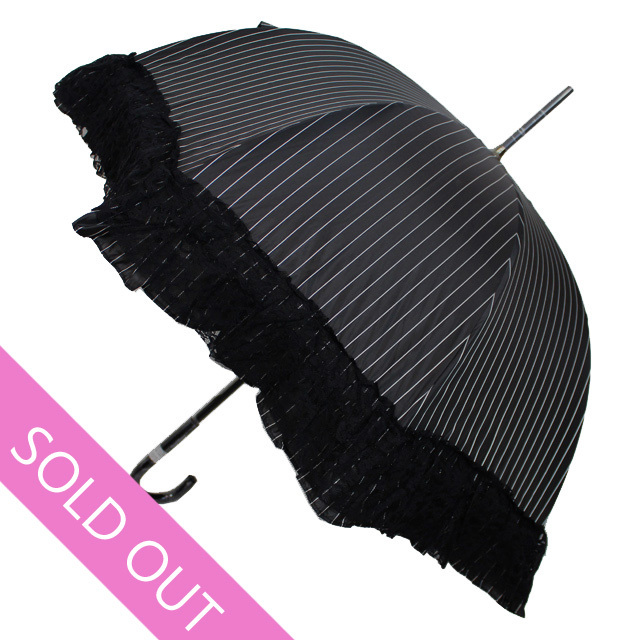 【Chantal Thomass】シャンタルトーマス CT134 ストライプ&レース晴雨兼用傘