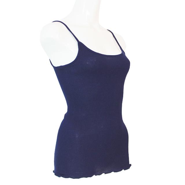 【Oscalito】オスカリート 3120 コットンキャミソール BLUE(ネイビー)