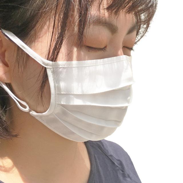 【a sakura】【ラ・サクラ】3095 シルク100% 洗える シルク マスク プリーツタイプ