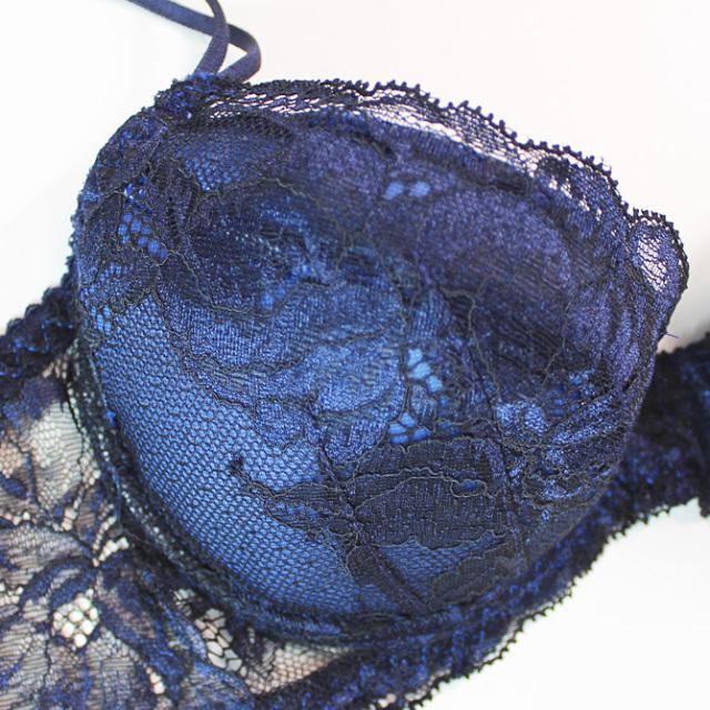 【STUDIO SHINNO】【スチューディオシンノ】 0821 オールレース ダブルパッテッドブラ Night Blue/Black