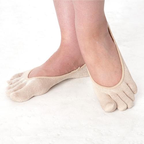 シルク五本指パンプス用靴下