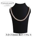 国産あこや本真珠 日本製 パール 7.0-7.5mm珠 ネックレス