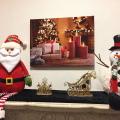クリスマス ピクチャーライト 壁掛け プレゼント キャンドル