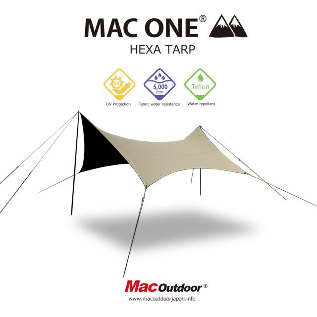 MAC ONE Mサイズ|ヘキサタープ|Mac Outdoor