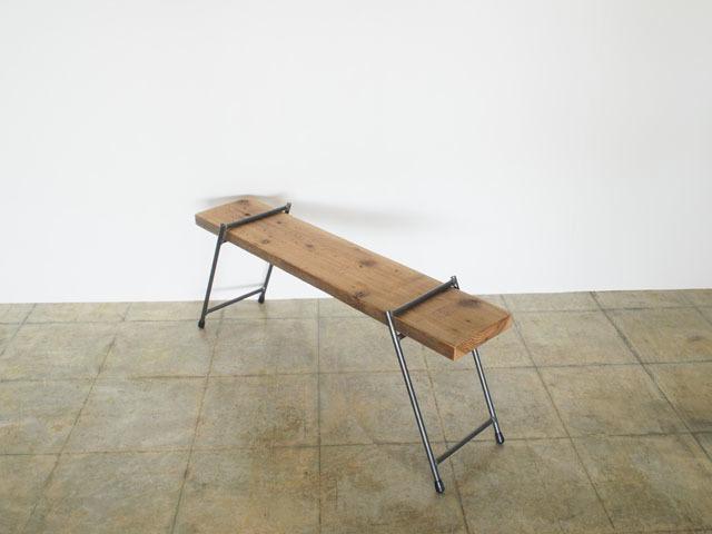 足場板とアイアンの組み立てラック|LOWシングル|同梱不可商品