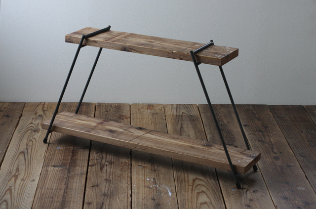 足場板とアイアンの組み立てラック|HIシングル|同梱不可商品