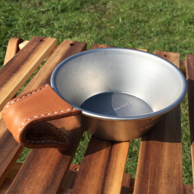 国産レザー|スノーピークシェラカップハンドル用レザーカバー