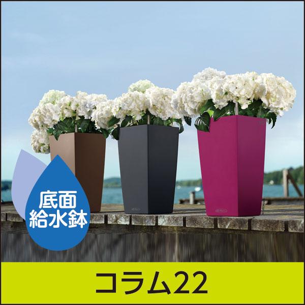 ☆送料無料☆底面給水機能付きプランター【レチューザエコノミー】コラム22・LECHUZA・プラスチック製