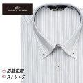 ワイシャツ[BODYWILD] ボタンダウン ノーヨーク仕様 ストレッチ ブラック 形態安定 スリム型 P12BWB245