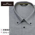 ワイシャツ[BODYWILD] ボタンダウン ノーヨーク仕様 ストレッチ ブラックドビー 形態安定 スリム型 P12BWB246