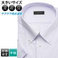 半袖ワイシャツ[L.O.X] ボタンダウン 吸水速乾 ビッグサイズ ラベンダー 形態安定 標準型 P16LOB061