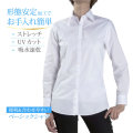 ●まとめ買い対象●レディース[PLATEAU] 形態安定 レギュラー ホワイトブロード 標準型 P31PLA524