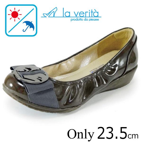 ラベリータ (アマルフィ・ Amalfi )no.2191 /グレージュエナメル/丸バックル/3.5cmヒール/Laverita