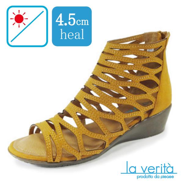 ラベリータ (ジェーラ・ Gela)no.2370/ブラウン/グラディエーター風サンダル/4.5cmヒール/Laverita
