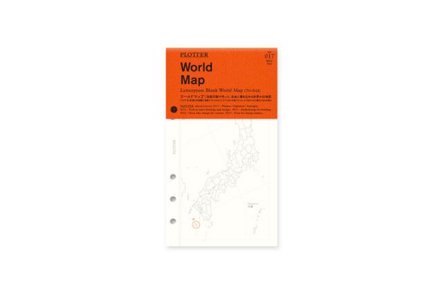 ★よりどり3点で送料無料★017 ワールドマップ(世界白地図) バイブルサイズ(77716615)