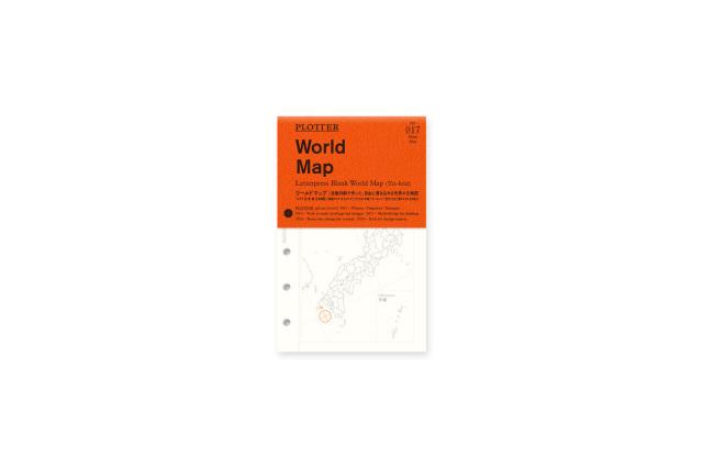 017 ワールドマップ(世界白地図) ミニサイズ(77716617)