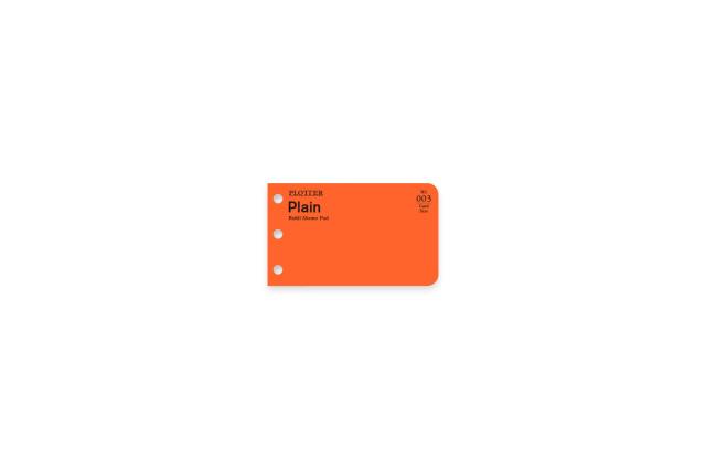 ★よりどり3点で送料無料★003 リフィルメモパッド無地40枚 カードサイズ(77716674)