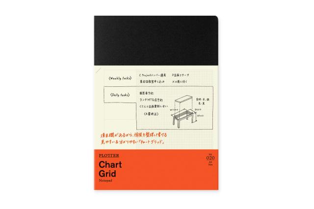 ★よりどり3点で送料無料★020 ノートパッドチャートグリッド80枚 A5サイズ(77716718)