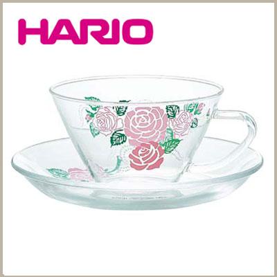 ハリオ 耐熱ガラス ティーカップ&ソーサー