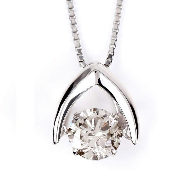ダンシングストーン ネックレス ダイヤ プラチナ クロスフォー ダイヤモンド 1.0ct ダンシング 1カラット 揺れる Pt900 ダイヤネックレス