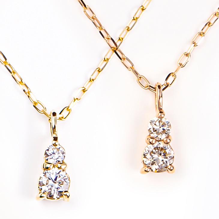 ネックレス レディース ダイヤモンドネックレス ダイヤモンド ライン ダイヤネックレス ダイヤ 10金 K10 10K YG PG ゴールド イエロー ピンク スキンジュエリー 華奢 ペンダント 金属アレルギー シンプル 誕生日 プレゼント 女性 彼女 ギフト