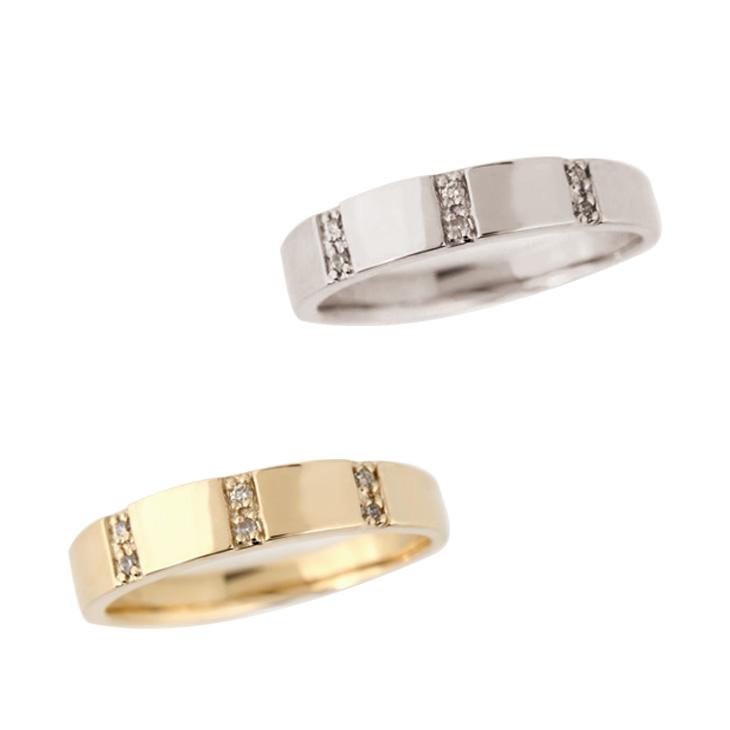 リング ダイヤモンド 指輪 ダイヤ 10金 K10 ホワイトゴールド イエローゴールド 10K 0.04ct
