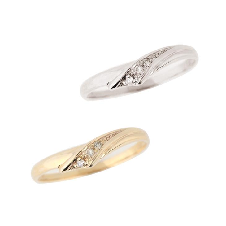 リング 指輪 レディース シンプル ゴールド ダイヤモンド 10金 K10 プレゼント