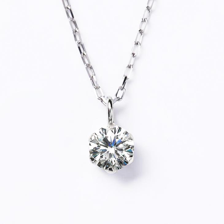 ダイヤモンド ネックレス レディース プラチナ ダイヤモンドネックレス ペンダント 一粒ダイヤ PT900 ペンダント 0.08ct