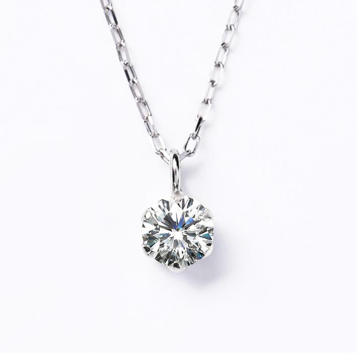 ダイヤモンド ネックレス レディース プラチナ 一粒ダイヤ PT900 ペンダント 0.15ct