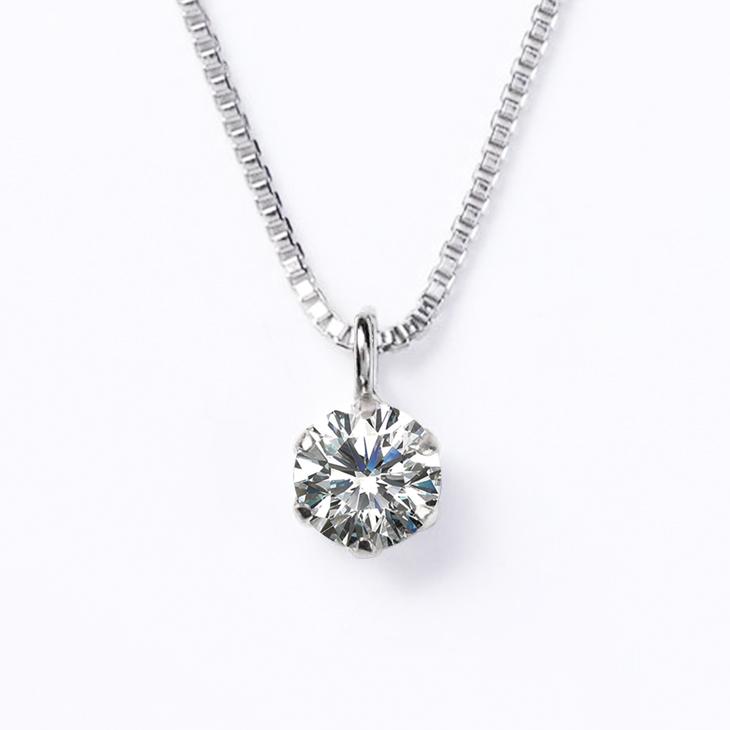 ダイヤモンド ネックレス レディース プラチナ ダイヤモンドネックレス ペンダント 一粒ダイヤ PT900 0.08ct