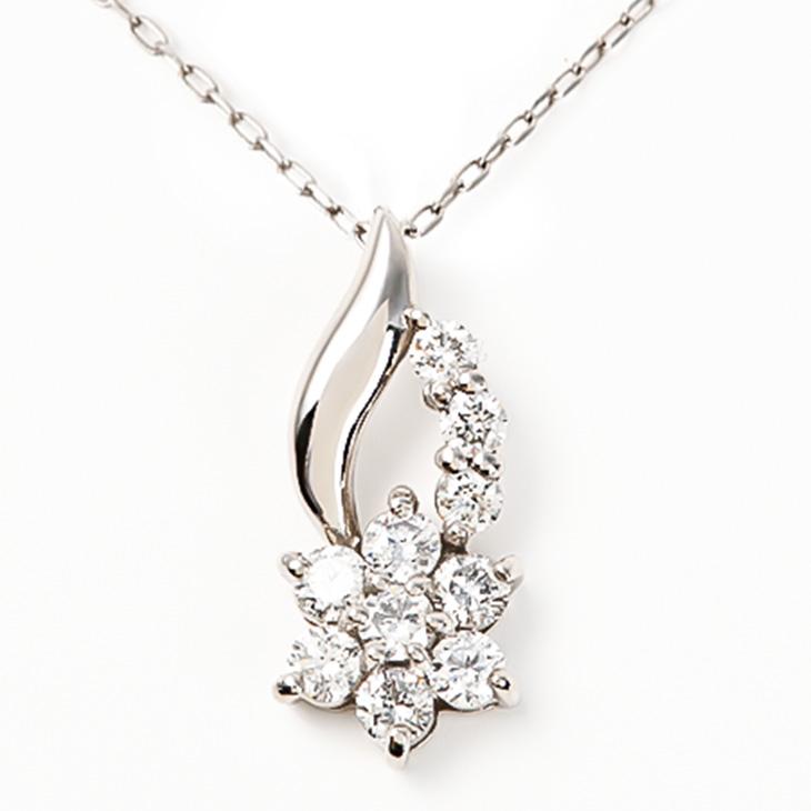 ダイヤモンドネックレスレディースプラチナペンダントプレゼント