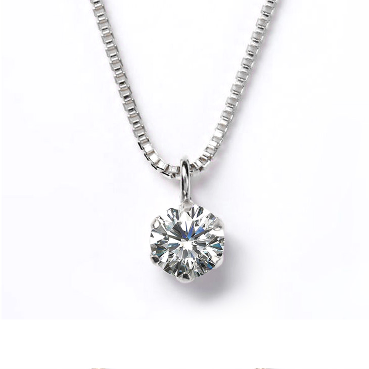 ダイヤモンドネックレスプラチナ天然ダイヤモンドプレゼント