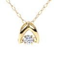 ダンシングストーン ネックレス ダイヤ クロスフォー ダイヤモンド ダンシング 揺れる K10 ゴールド 10金 一粒 シンプル