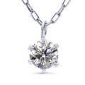 ダイヤモンド ネックレス レディース 一粒 プラチナ ダイヤネックレス PT900