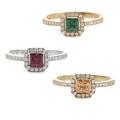 スワロフスキー 指輪 リング カラーストーン 色石 選べる3色 スワロフスキージルコニア リング レディース プレゼント ギフト