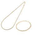 チェーン ネックレス ブレスレット セット 18金 チェーンネックレス チェーンブレスレット スクリュー ホローチェーン K18 50cm