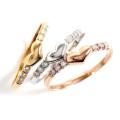 ダイヤモンド リング 指輪 18金 レディース ピンキー ピンキーリング 小指 K18 ダイヤリング