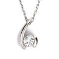 ダイヤモンド ネックレス レディース プラチナ シンプル ダイヤネックレス 0.08ct H-SI2-GD up 人気 Pt900