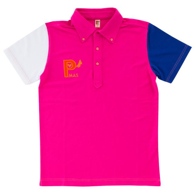 トリコロールポロシャツ (ピンク)